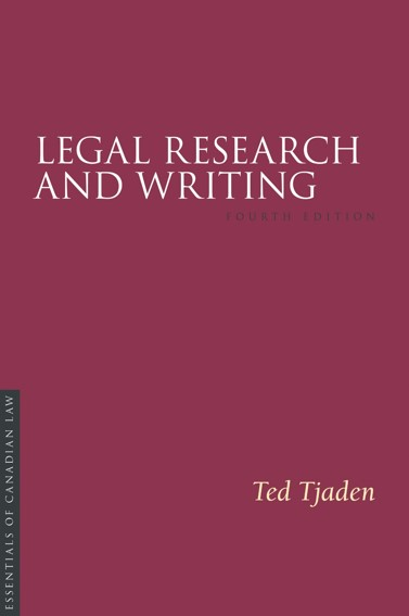 Cover of 4th edition of Legal Research and